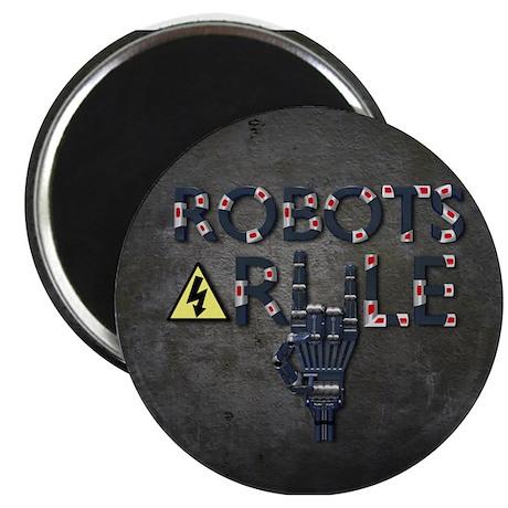 """Robots Rule 2.25"""" Magnet (10 pack)"""