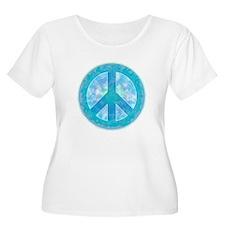 Peace Sign Blue T-Shirt