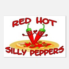 Red Hot Silly Peppers Postcards (Package of 8)