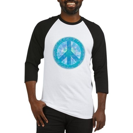 Peace Sign Blue Baseball Jersey