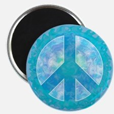 Peace Sign Blue Magnet