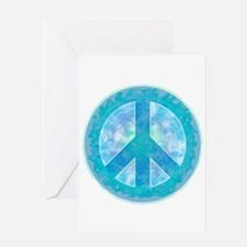 Peace Sign Blue Greeting Card