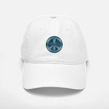 Peace Sign Blue 2 Baseball Baseball Cap