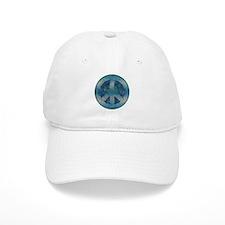 Peace Sign Blue 2 Baseball Cap