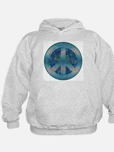 Peace Sign Blue 2 Hoodie