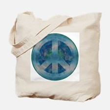 Peace Sign Blue 2 Tote Bag