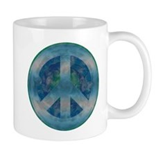 Peace Sign Blue 2 Mug