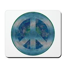 Peace Sign Blue 2 Mousepad