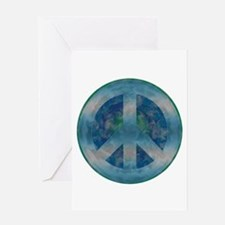 Peace Sign Blue 2 Greeting Card