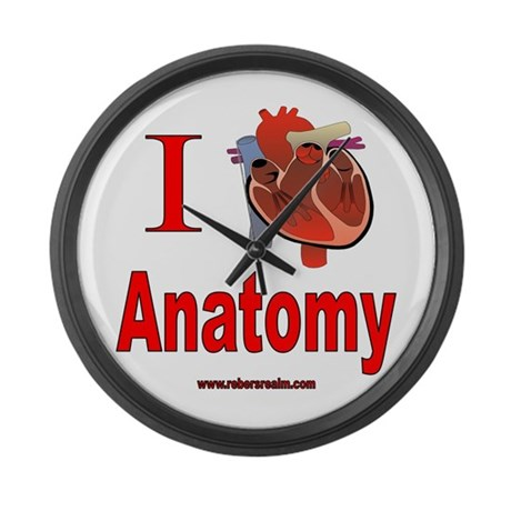 I love anatomy Large Wall Clock