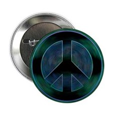 "Peace Sign Noir 2.25"" Button"