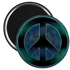 Peace Sign Noir Magnet