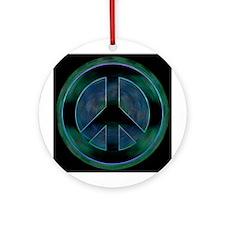 Peace Sign Noir Ornament (Round)