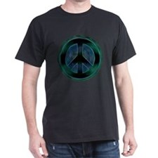Peace Sign Noir T-Shirt