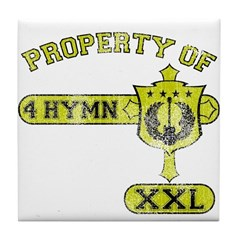 Property of 4 Hymn - Mustard Tile Coaster