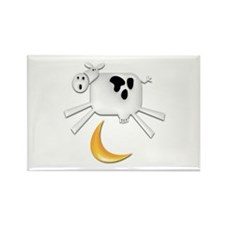 Cute Cow jumped over moon Rectangle Magnet