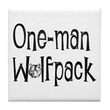 Funny Wolfpack Tile Coaster