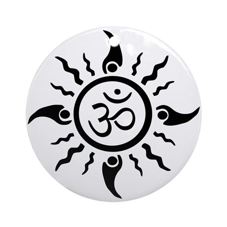 Yoga Sun OM Ornament (Round)