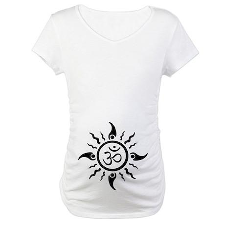 Yoga Sun OM Maternity T-Shirt