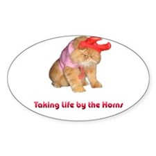 Life by Horns Oval Decal