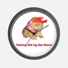 Life by Horns Wall Clock
