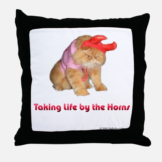 Life by Horns Throw Pillow