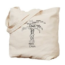 Word Up Dark Punta Cana Palm Tote Bag