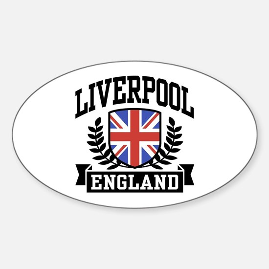 Liverpool England Oval Decal