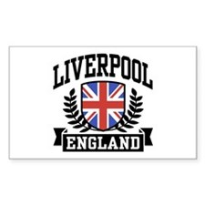 Liverpool England Rectangle Decal