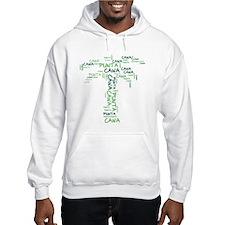 Word Up Green Punta Cana Palm Tree Hoodie