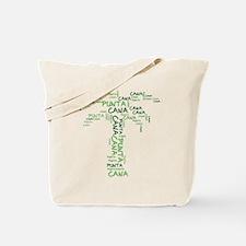 Word Up Green Punta Cana Palm Tree Tote Bag