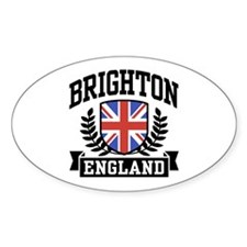 Brighton England Oval Decal