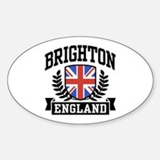 Brighton England Oval Decal