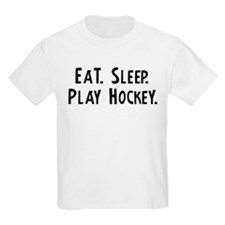 Eat, Sleep, Play Hockey Kids T-Shirt