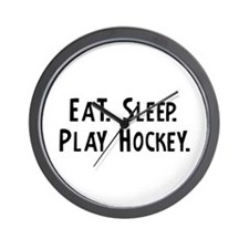 Eat, Sleep, Play Hockey Wall Clock
