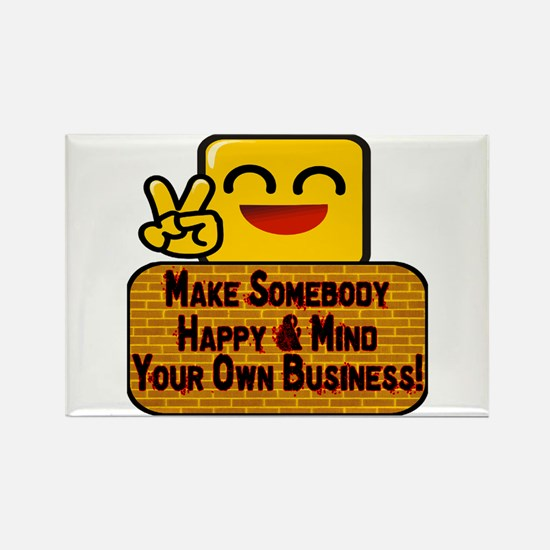 Mind Your Business Rectangle Magnet