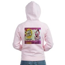 Women's Big Deal Imitation Ice Milk Zip Hoodie