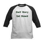 Don't Worry Get Stoned Kids Baseball Jersey