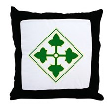 Fourth Infantry Div. Throw Pillow