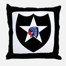 2nd Infantry Division Throw Pillow