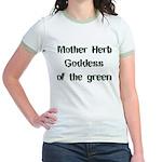 Mother Herb Goddess of the Gr Jr. Ringer T-Shirt
