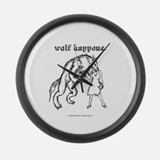 Wolf Happens. Large Wall Clock