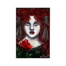 Winter Rose Rectangle Magnet