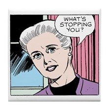 Funny King features mary worth Tile Coaster