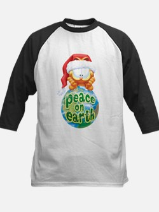 Peace On Earth Garfield Kids Baseball Jersey