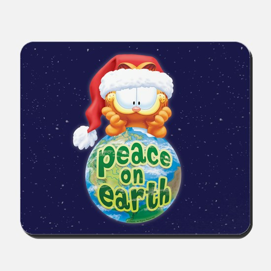 Peace On Earth Garfield Mousepad