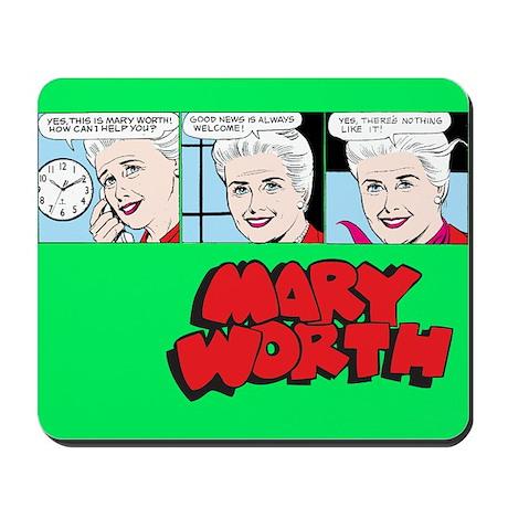Mary Comic Panels Mousepad