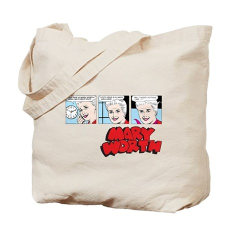 Mary Comic Panels Tote Bag