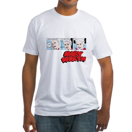 Mary Comic Panels Fitted T-Shirt