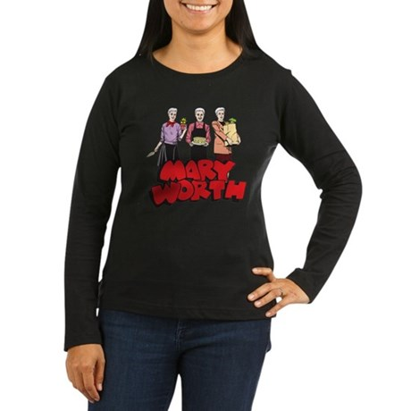 Three Marys Women's Long Sleeve Dark T-Shirt
